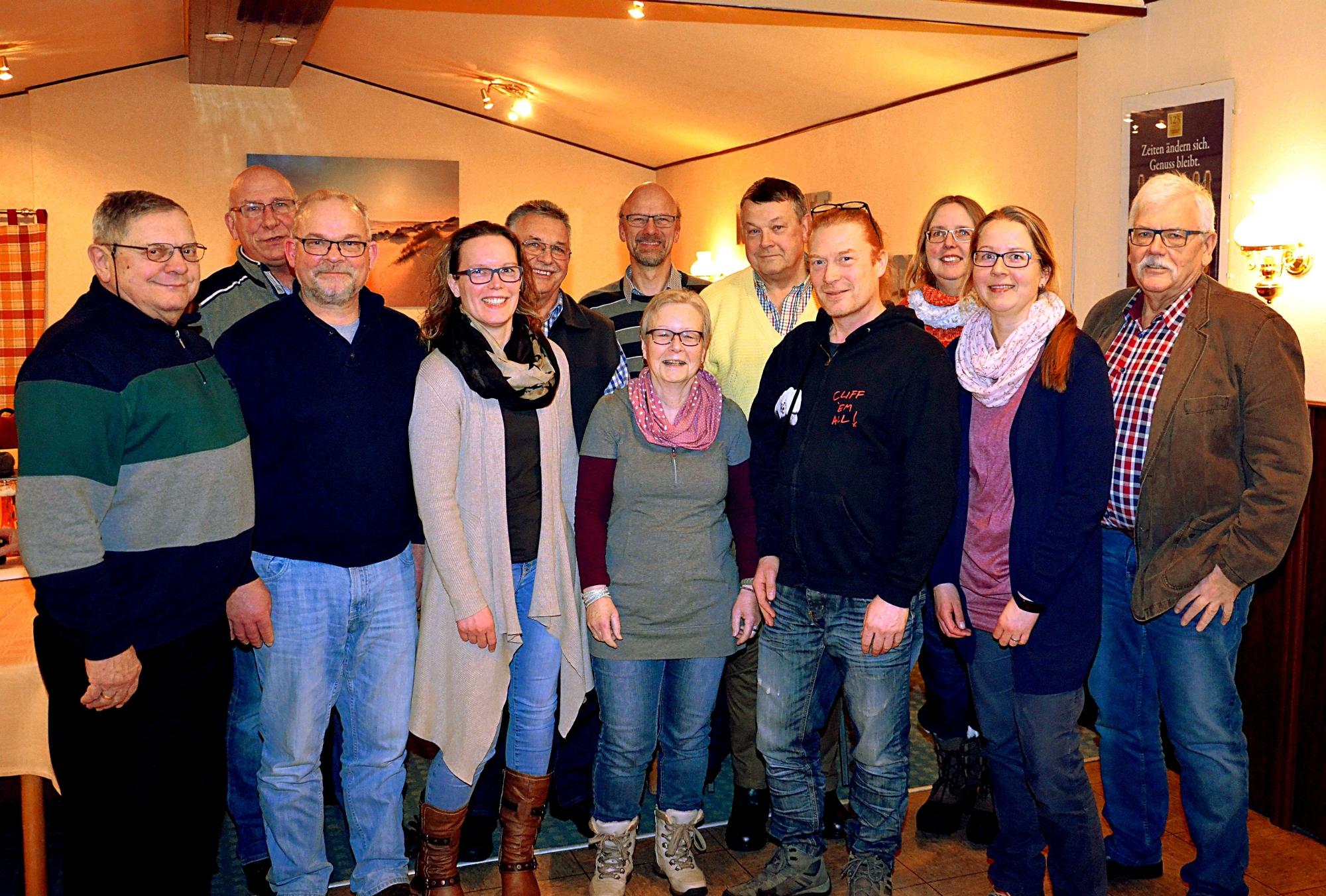 Vorstand und Beisitzer des Bürgerfestvereines 2018